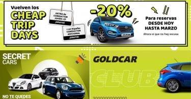 goldcar alquiler coches baratos SuperChollos