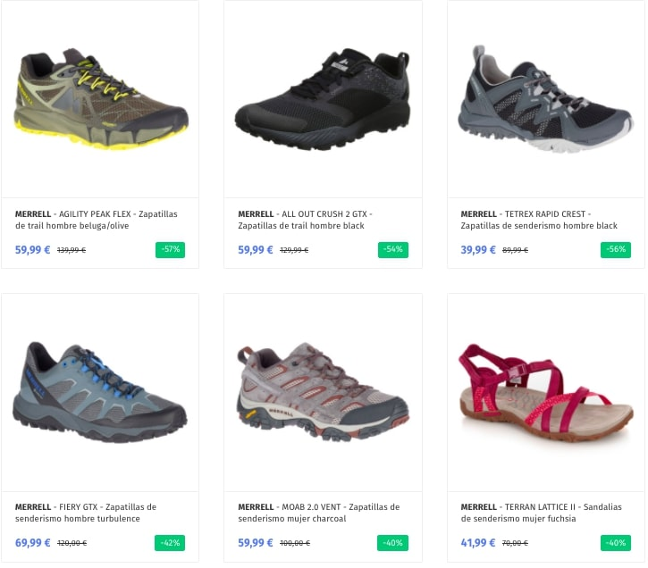 Outlet Merrell SuperChollos