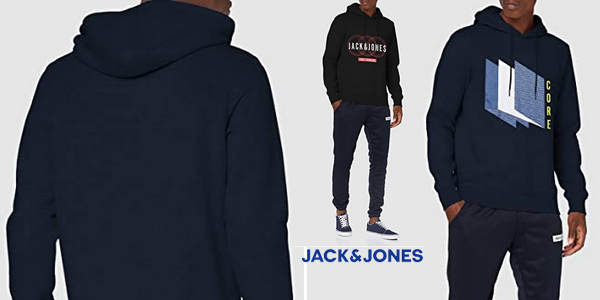 sudadera con capucha jack jones core hombre chollo barata amazon SuperChollos