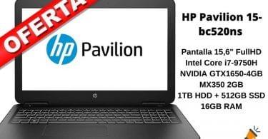 oferta HP Pavilion 15 bc520ns barato SuperChollos