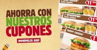 oferta cupones burger king SuperChollos
