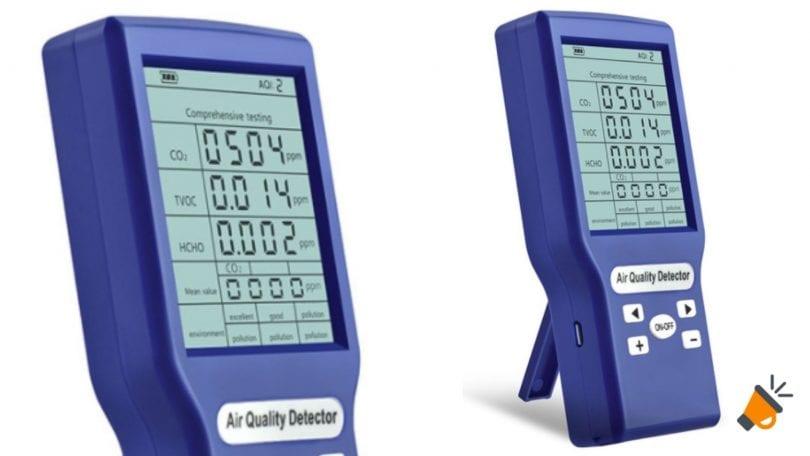 oferta Detector profesional de dio%CC%81xido de carbono barato SuperChollos
