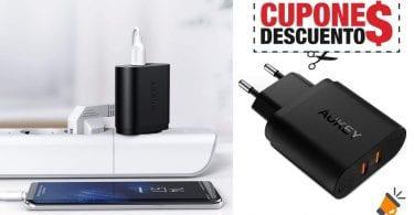 oferta cargador AUKEY Quick Charge barato SuperChollos