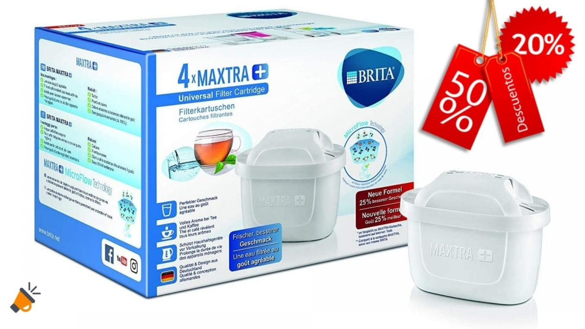 excepto jarras con filtro MAXTRA+ paquete de 6 filtros aptos para las jarras Aqua Optima y Brita MAXTRA Cartuchos de filtro de agua Basics