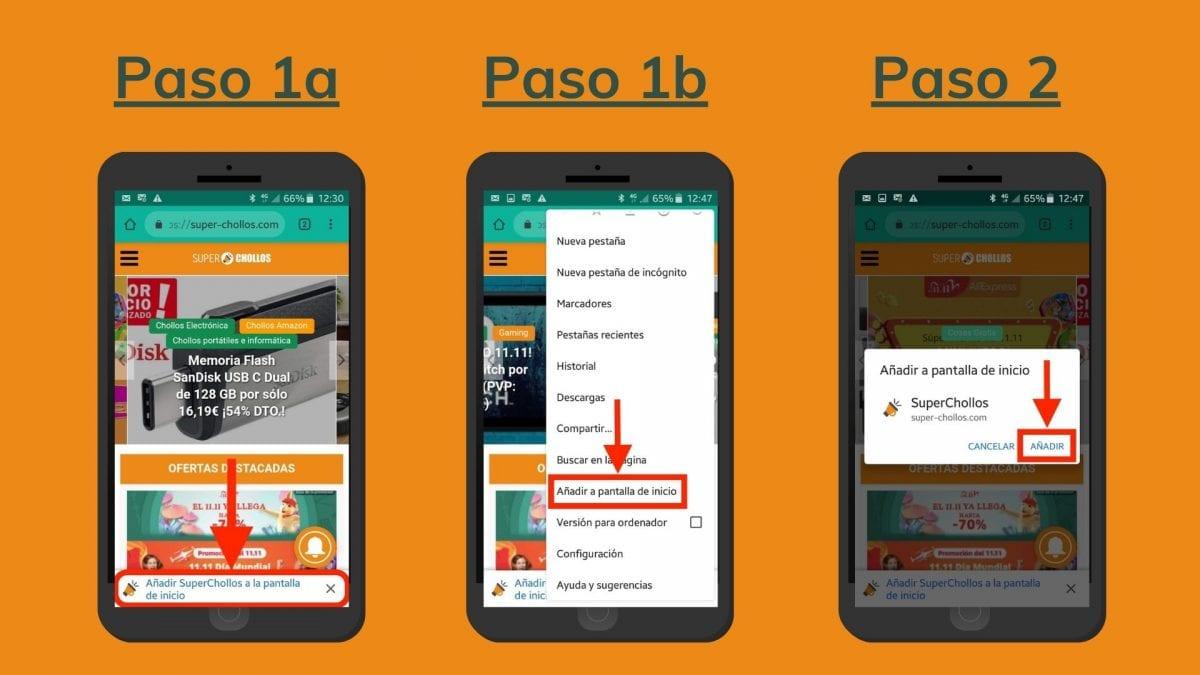 Pasos para instalar la app de superchollos en android scaled SuperChollos