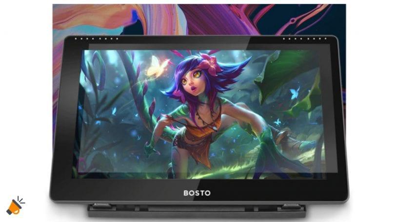 OFERTA tableta grafica BOSTO 16HD barata SuperChollos