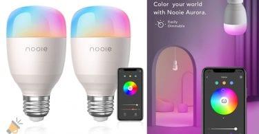 oferta Bombillas inteligentes Nooie Aurora baratas baratas SuperChollos