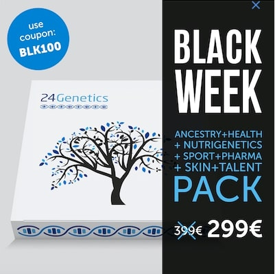 Black Friday 24Genetics1 SuperChollos
