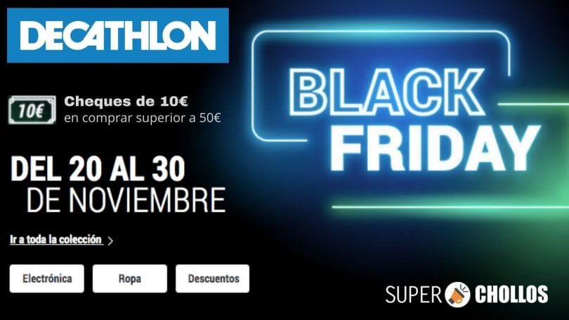 black friday decathlon SuperChollos