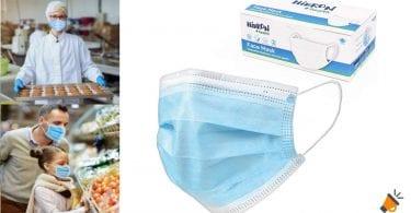 oferta mascarillas higienicas deshechables baratas SuperChollos