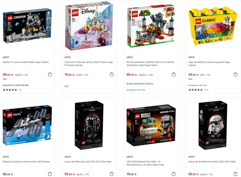 Juguetes LEGO baratos en El Corte Ingle%CC%81s2 SuperChollos