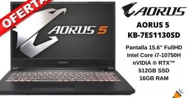 OFERTA AORUS 5 KB 7ES1130SD barato SuperChollos
