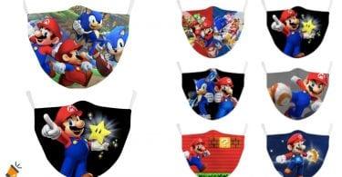 oferta Mascarillas reutilizables Mario Bros baratas SuperChollos