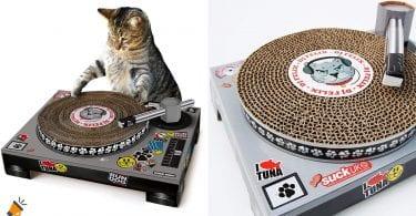 oferta rascador tocadiscos gatos barato SuperChollos