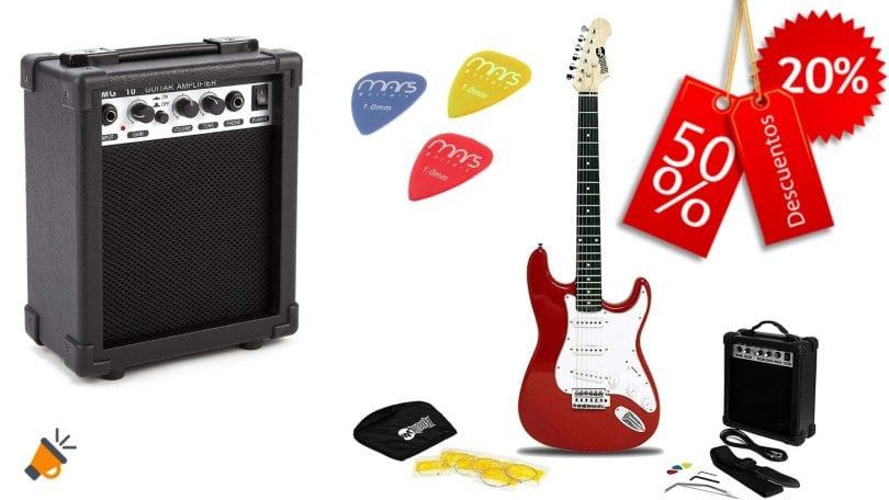 oferta RockJam guitarra ele%CC%81ctrica barata SuperChollos