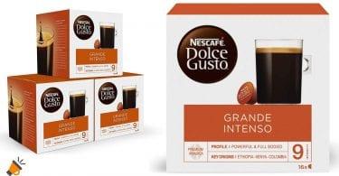oferta Nescafe%CC%81 Dolce Gusto capsulas GRANDE INTENSO baratas SuperChollos