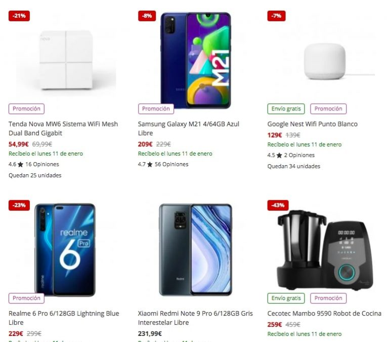 Productos recomendados PcComponentes3 SuperChollos