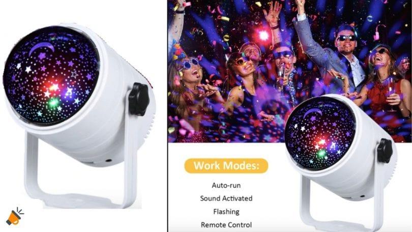 oferta Proyector LED giratorio Galaxy Ocean barato SuperChollos