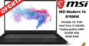 OFERTA MSI Modern 14 B10MW 026XES BARATO SuperChollos