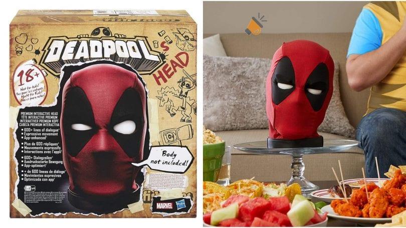 oferta Cabeza interactiva Deadpool barata SuperChollos