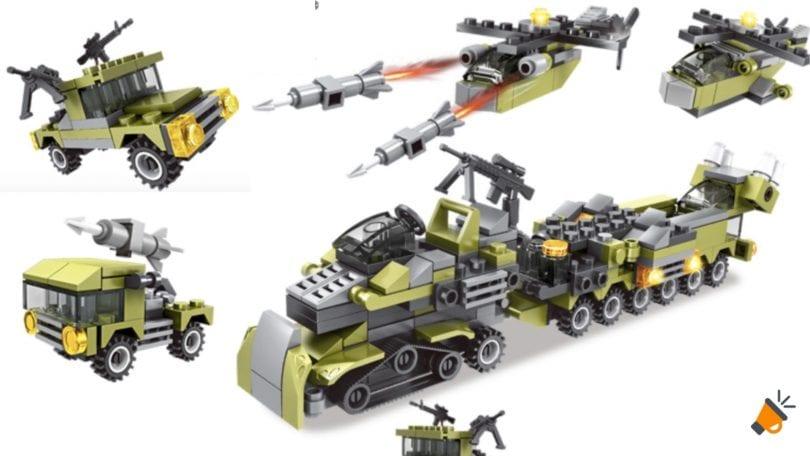 oferta LEGO con vehi%CC%81culos de combate baratos SuperChollos