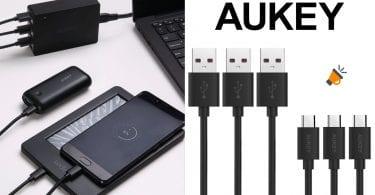 OFERTA AUKEY Cable Micro USB baratos SuperChollos