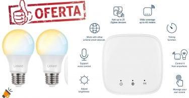 oferta Bombilla LED Zigbee Smart CCT E27 barata SuperChollos