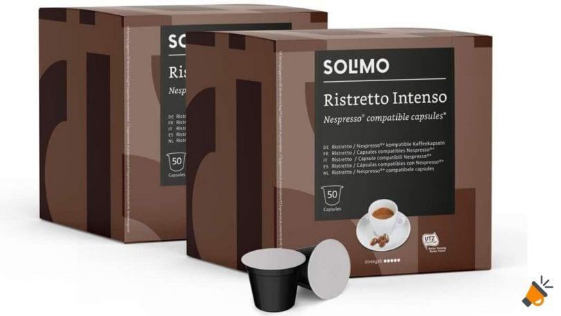 oferta Nespresso Solimo Ristretto Intenso baratas SuperChollos