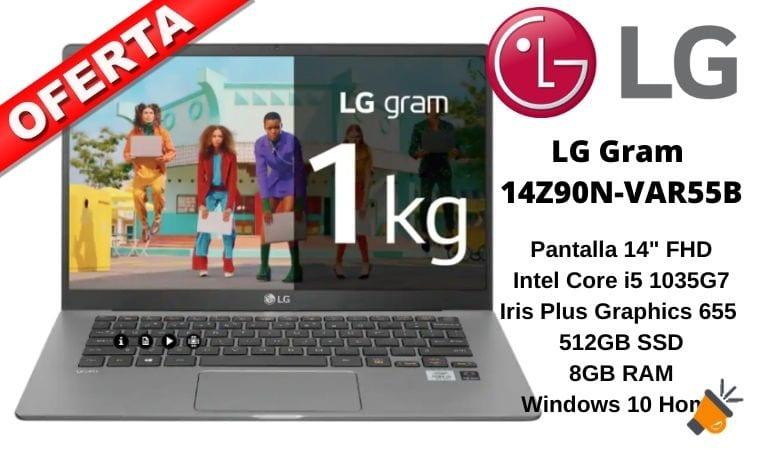 oferta LG Gram 14Z90N VAR55B barato SuperChollos