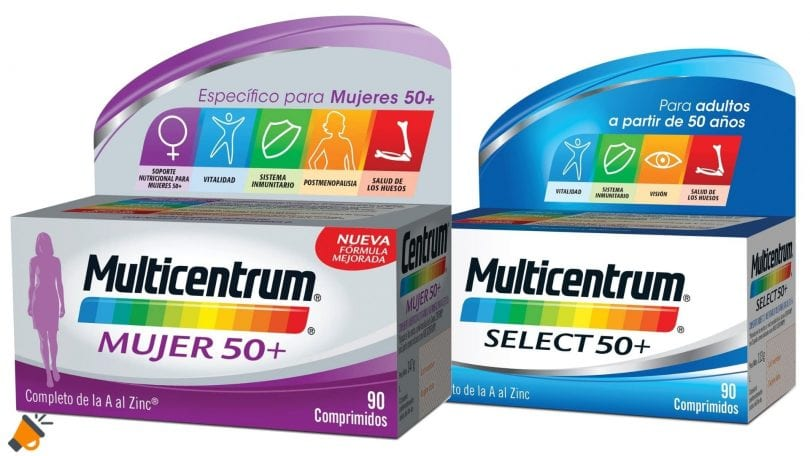 oferta Comprimidos Multicentrum Select 50 baratos SuperChollos