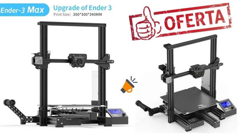 oferta Impresora 3D Ender 3 Max barata SuperChollos