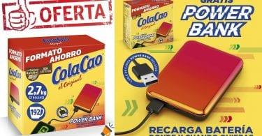 oferta colacao powerbank gratis SuperChollos