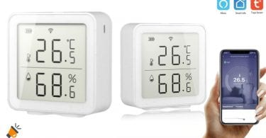 oferta Sensor temperatura Tuya barato SuperChollos