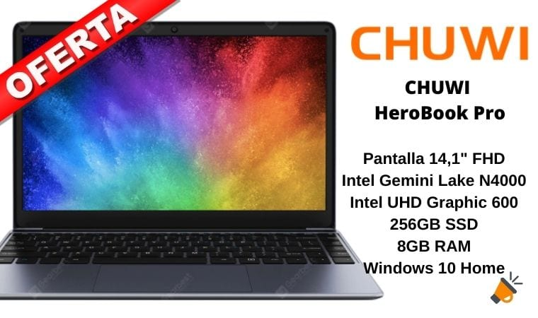 oferta CHUWI HeroBook Pro barato SuperChollos