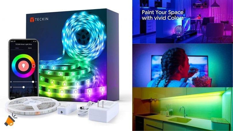 oferta TECKIN Tiras LED barata SuperChollos