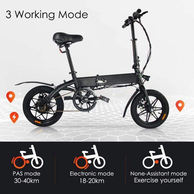 Bicicleta Ele%CC%81ctrica Megawheels barato SuperChollos