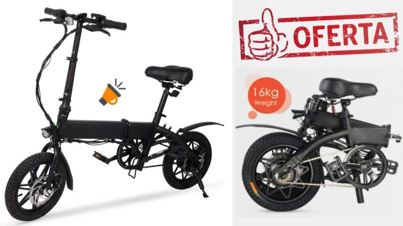 oferta Bicicleta Ele%CC%81ctrica Megawheels barata SuperChollos