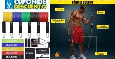 oferta bandas elasticas fitness zacro baratas SuperChollos