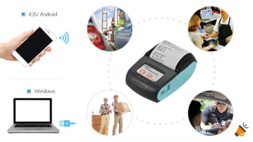 OFERTA Mini impresora etiquetas Bluetooth barata SuperChollos