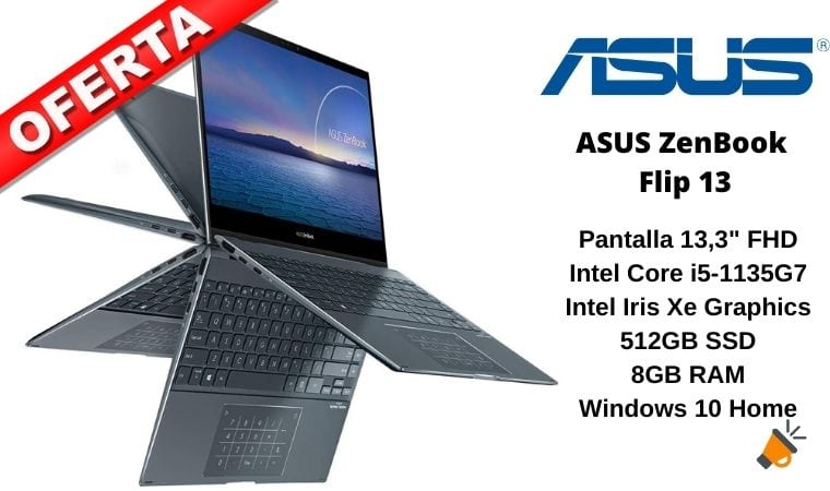 oferta ASUS ZenBook Flip 13 barato SuperChollos