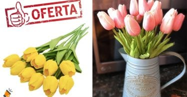 oferta tulipanes artificiales baratos SuperChollos