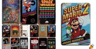 oferta carteles videojuegos retro baratos SuperChollos