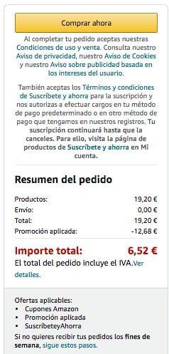 amazon pedido SuperChollos