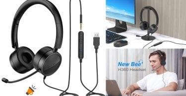 oferta auriculares new bee H360 baratos SuperChollos