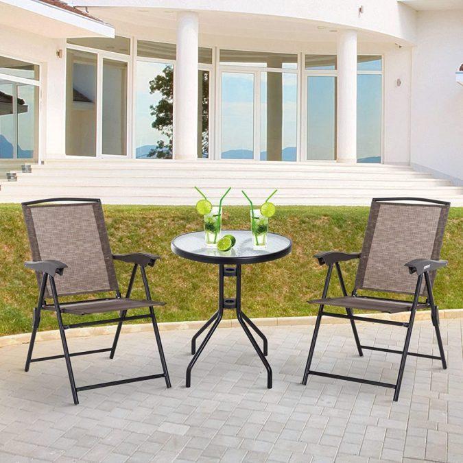 Conjunto de mesa y sillas Outsunny barato scaled SuperChollos