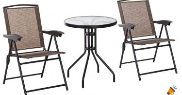 oferta Conjunto de mesa y sillas Outsunny barato SuperChollos