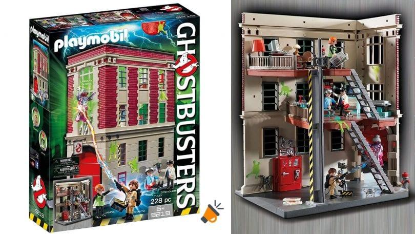 OFERTA playmobil ghostbusters parque bomberos barato SuperChollos