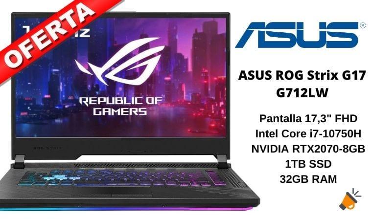 oferta ASUS ROG Strix G17 G712LW barato SuperChollos
