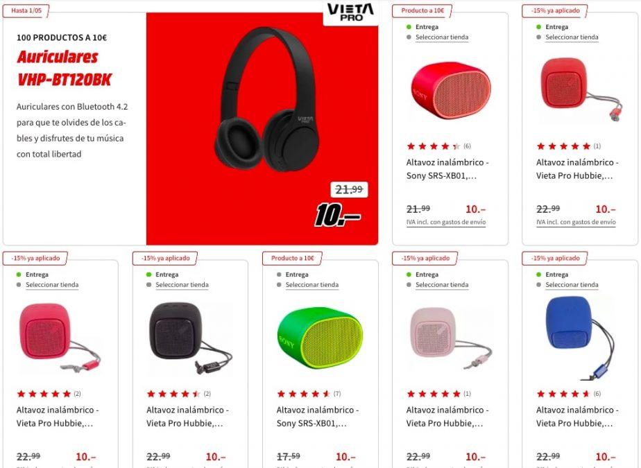 100 productos a 10 E en MediaMarkt3 SuperChollos