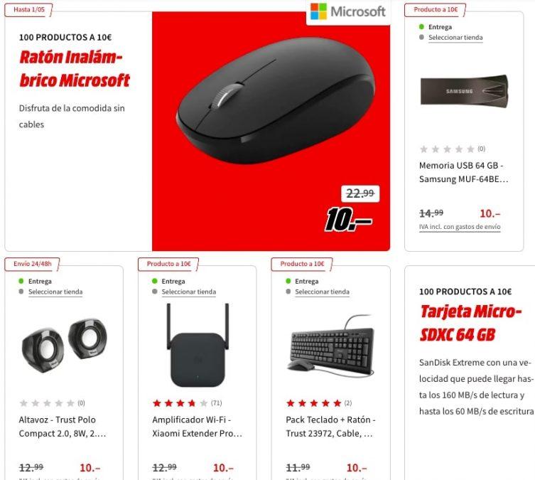 100 productos a 10 E en MediaMarkt2 SuperChollos